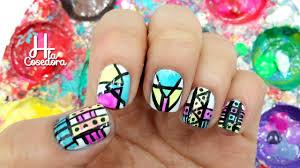 decoracion de uñas azteca o tribal aztec nail art youtube