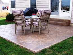 Concrete Ideas For Backyard by Concrete Patio Floor Covering Outdoor Concrete Patio Designs