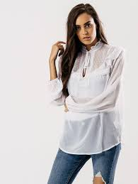 high neck ruffle blouse white high neck sheer ruffle blouse l influence fashion season