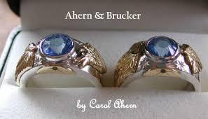 wolf wedding rings ahern brucker wolf rings