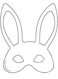 bunny mask template template for easter bunny mask template for easter