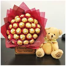 chocolate gifts delivery singapore in ferrero rocher bouquet chocolate gifts birthday gifts singapore