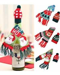 christmas day dinner table games memorial day shopping special wine bottle scarf hat sets