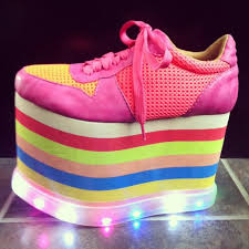 rainbow light up shoes today s so shoe me is the highlite platform sneaker by jeffrey