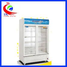 glass door soft drink upright refrigerator display cooler freezer