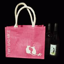be6 fuchsia pink eco bag two bad mice
