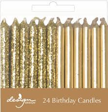 gold birthday candles gold candles sprinkles confetti birthday party supplies