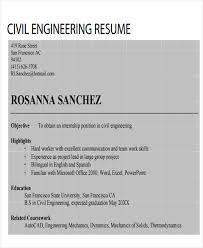 Civil Engineer Resume Example by 47 Engineering Resume Samples Free U0026 Premium Templates