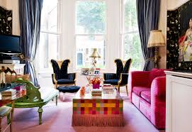Living Room Arm Chair Boho Chic Living Room Ideas Wooden Leg Classic Pattern Arm Chair