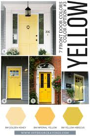yellow front door 7 front door colors to make your home stand out interior cravings