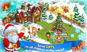 farm snow happy story with toys santa android apps