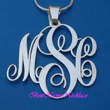 monogram necklace sterling silver monogram necklace personalized initials from bestnamenecklace