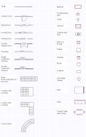 free architectural plans blueprint symbols free glossary floor plan symbols for
