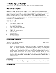 Sample Resume For Mechanical Engineers by Glamorous Mechanical Engineering Resume Template Mechanical