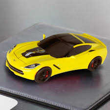 yellow corvette racing usb wireless mouse yellow