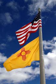 Flying Flag New Mexico Flag
