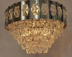 Bohemian Glass Chandelier Crystal Chandelier Lighting Luxury Czech Mid Century Lighting