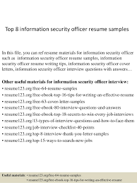 Security Guard Resume Example by Top 8 Information Security Officer Resume Samples 1 638 Jpg Cb U003d1427855746