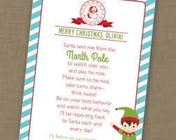 elf letter template elf goodbye letter etsy