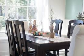 Dining Room Tablecloth A Simple Spring Dining Room One Happy Housewife