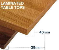 laminated wood table top x 600mm square 40mm contract laminate table top made to order