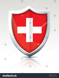 Seoul Flag Shield Flag Switzerland Vector Illustration Stock Vector 780941650