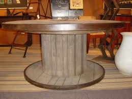 Industrial Pedestal Table Large Industrial Spool Table At 1stdibs