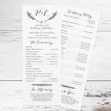 Diy Wedding Programs Templates Rustic Wedding Program Template Rustic Wedding Programs