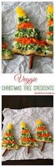 veggie christmas tree crescents