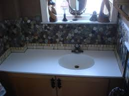 River Rock Bathroom Ideas River Rock Backsplash Give A New And Natural Accent To Your