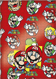 mario wrapping paper mario gift wrap 2 sheets 2 tags health