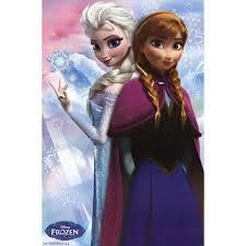 buy frozen anna u0026 snow queen elsa poster print 24 36 cheap