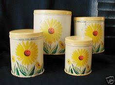 sunflower kitchen canisters vintage shabby sunflower kitchen canister or by emmaleensvintiques