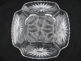 vintage deviled egg plate vintage square press cut pattern glass egg plate divided tray for