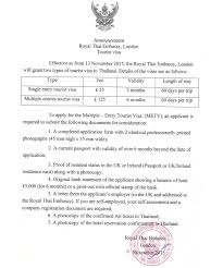Sample Letter Of Intent To Stay On The Job by Thailand U0027s Multiple Entry Tourist Visa Requirements Tieland To
