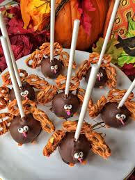 turkey cake pops spoon