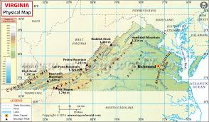 map of virginia and carolina with cities map of virginia