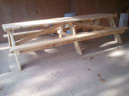 Building Plans For Picnic Table Bench by 20 Free Picnic Table Plans Enjoy Outdoor Meals With Friends