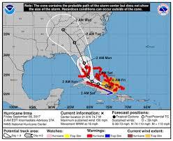 irma forecast hurricane warning issued for florida travel agent