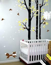 stickers chambre bébé arbre stickers deco chambre bebe lit en bois a mame le sol stickers