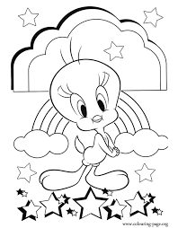 tweety bird color pages coloring