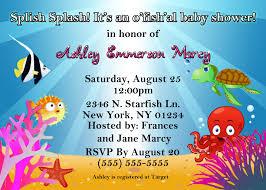 under the sea baby shower invitations free templates invitations