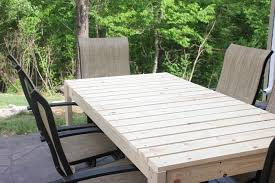 Build Wooden Patio Table by How To Build A Patio Dining Table How To Nest For Less