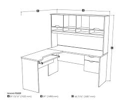 How To Measure L Shaped Desk Bestar Innova Tuscany Brown L Shaped Computer Desk 92420 63