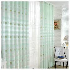 Light Green Curtains Decor Polka Dots Pink And White Curtains With Lace
