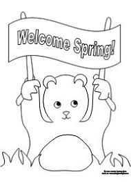 printable coloring groundhog making learning fun