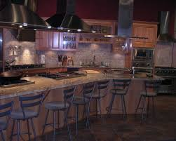 kitchen fascinating l shape rustic kitchen decoration using black