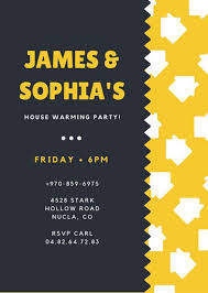 housewarming invitation templates canva