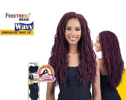 senegalese pre twisted hair shake go freetress senegalese twist wavy 18