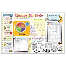 choose my plate placemat coloring sheet advertising specialties